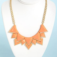 Neck's Best Thing Peach Statement Necklace