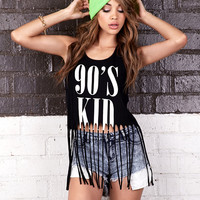 Fringed 90's Kid Tank Forever 21