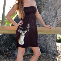 Fashionable hunting deer dress