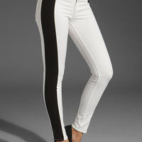 rag & bone/JEAN The Split Skinny in Black/White from REVOLVEclothing.com