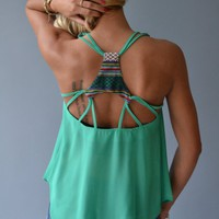 Piace Boutique - Over The Top Tank in Tops