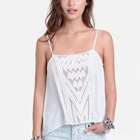 White Sands Mesh Detail Tank - $27.00 : ThreadSence, Women's Indie & Bohemian Clothing, Dresses, & Accessories