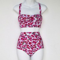 Rosie High Waisted Bikini Bottom from Seek Vintage
