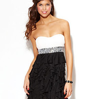 Speechless Juniors Dress, Strapless Rhinestone Colorblock - Juniors Dresses - Macy's