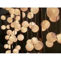 Amazon.com: 35 White Cotton Balls Patio Party String Lights (35 Balls/set) By I Love Handicraft Brand: Home Improvement