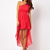 AX Paris One Shoulder Asymetric Dress at asos.com