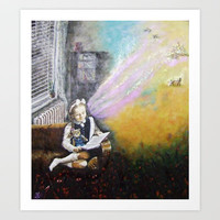 IMAGINATION Art Print by Vargamari