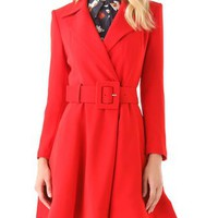 alice + olivia Loris Flare Coat | SHOPBOP