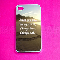iphone 4 Case, iPhone 4s case, Love Quote iPhone 4 Case, Iphone 4s Cover,Case for iPhone 4