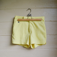 Vintage Wilson Polyester Tennis Shorts 1970s Yellow Shorts Mens Shorts Size 32