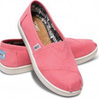 Pink Canvas Youth Classics | TOMS.com