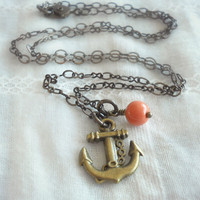 Anchor Necklace - Nautical Summer Jewelry - Nautical Anchor Necklace
