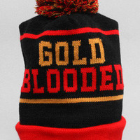 Adapt Advancers — GOLD BLOODED (Black/Red Beanie)