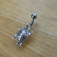 Belly button ring - Body Jewelry - Turtle Belly Button ring