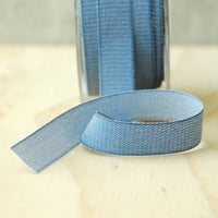 5 Yards Indigo Denim Ribbon Twill Tape Sewing Notion Gift Wrapping