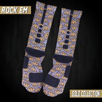 Gold Series Custom Nike Elite Socks - Diamonds | Rock 'Em Apparel