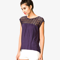 Crochet Yoke Top | FOREVER21 - 2023013671