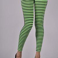 DELIGHT STRIPED LEGGINGS  — Feetomatic By AutoSquad Girlz