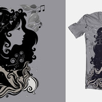 Score Musical psychedelic rain on Threadless