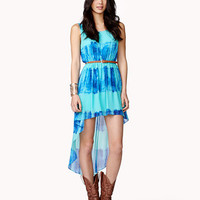 Tie-Dye High-Low Dress