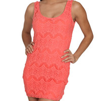 Crochet Lace Bodycon Dress | Shop Sale at Wet Seal
