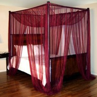 Palace Four Poster Bed Canopy Net Color: Burgundy: Baby