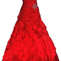 Taffeta Petals Prom Dress | Bridal Gowns