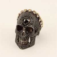 Black Skull King Ring