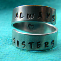 always sisters aluminum spiral  ring