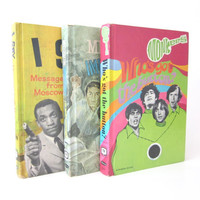 TV Shows Vintage 1960s 3 books, Monkees, I Spy, Mission Impossible, Bill Cosby, Davy Jones