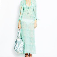 Aqua Mermaid Arabella Caftan - BEACH CANDY Aqua Mermaid Arabella Caftan