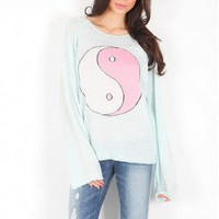Wildfox Ying Yang Sweater in Mall Fountain | SINGER22.com