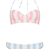 Pink Stripe Underwired Bikini - New In This Week  - New In