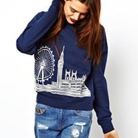ASOS Sweatshirt with London Scene at asos.com