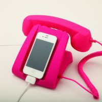 Pink Talk Dock Mobile Device Handset and Charging Cradle: Cell Phones &amp; Accessories