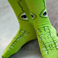 Socks By Sock Dreams  » Socks » Mouthy Alligator 3 D Socks