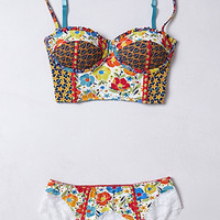 Patchworked Blossoms Lace Bikini