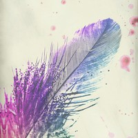 *** Feather Splash ***  Art Print by Mnika  Strigel for Society6 / iphone case / pillow / ipad case / greeting cards / stretched canvas /