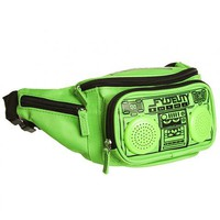 Green Retro Boombox Bum Bag With Working Speakers From Fydelity : TruffleShuffle.com