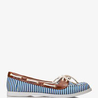 Striped Boat Shoes