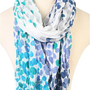 colorful dotted pattern scarf - 1000047711 - debshops.com