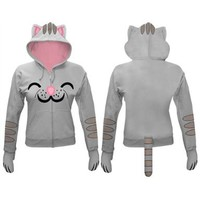Big Bang Theory Soft Kitty Juniors Zip Hoodie