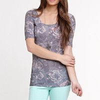 Workshop Grunge Roses Top at PacSun.com
