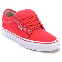 Vans Chukka Low Red, Khaki &amp; White Skate Shoe