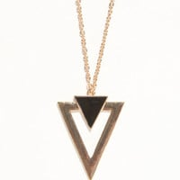 With Love From CA Triangle Outline Pendant Necklace at PacSun.com