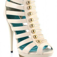Alexandra Button Accent Gladiator Sandal