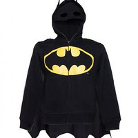 Men&#x27;s Batman Caped Costume Hoodie With Mask From Poizen Industries : TruffleShuffle.com