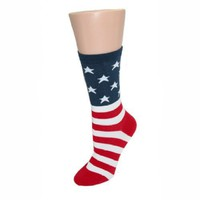 K. Bell Women's American Flag Novelty Socks