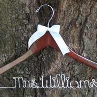Personalized Keepsake Hanger, Custom Made Bridal Hangers,Bridal Shower Gift idea,Wedding Hangers with Names, Wedding Photo Props