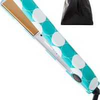 Teal Dot 1 Inch Flat Iron